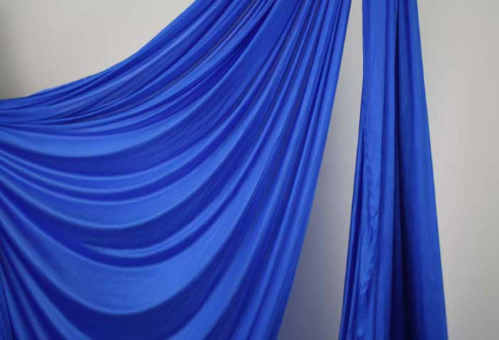 108 inches wide Silver Aerial Silk